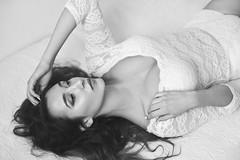 Faustyna (lucrecia lee) Tags: beauty beautiful bigeyes blackandwhite longhair light sensual stylish subtle seductive sexy shoulders lying woman wavyhair waves girl gorgeous graceful glamour glamorous face fulllips fashion portrait pretty