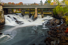 Town Falls Bracebridge (vernonbone) Tags: 1855kitlens 2016 autumn d3200 lens october ontario landscape leadinglines longexposure nikon outside street water