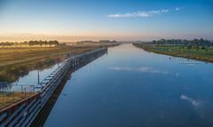 A colorful canal (Ingeborg Ruyken) Tags: 2016 500pxs empel kanaalpark maximakanaal canal dropbox flickr fog kanaal mist morning natuurfotografie ochtend september summer sunrise zomer zonsopkomst