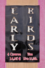 Off the menu... (RagbagPhotography) Tags: mar menor golf resort murcia spain los alcazares early birds sign food restaurant menu