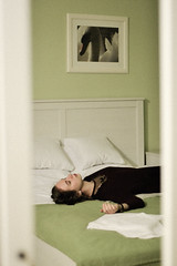 98/365 Boredom (Adanethel) Tags: portrait self selfportrait girl woman nature night shadows light