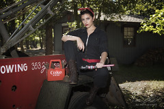 Repair Ready (Linda O'Donnell) Tags: rosietheriveter models 1940s redbandana glamour redlipstick worldwarii wwii vintagevehicles cocacola coke towtruck pinup lindanjo6 lindaodonnell