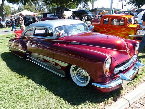 1949 Chevrolet Fleetline (bballchico) Tags: 1949 chevrolet fleetline chopped custom kustom scallops flames darylschaar janschaar billetproof billetproofantioch carshow 40s