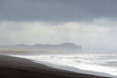 Vk  Mrdal Beach (Photocedric) Tags: iceland beach ocean water black islande rain sand sea vk is