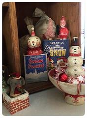 Celeste's-Photo-Johanna-Parker-Collection-Snow-Goodies (Johanna Parker Design) Tags: christmas decorations holiday elephant snowman folkart snowmen whimsical celeste hoosier johannaparker collectorspotlight jodybattaglia