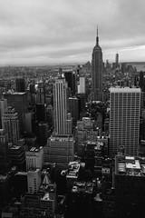 New York - Manhattan (gregsino) Tags: nyc roof blackandwhite newyork building rooftop buildings noiretblanc manhattan empirestatebuilding immeuble immeubles