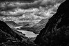 stormy sky, silent valley... (Dr Kippy) Tags: blackandwhite bw landscape lakedistrict valley buttermere canon400d