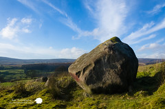 Simon's seat (Stu Raw Photography) Tags: blue sky terrain sun green rock clouds forest landscape countryside yorkshire scenic farmland grassland yorkshiredales boltonabbey simonsseat rockyoutcrops sturawphotography