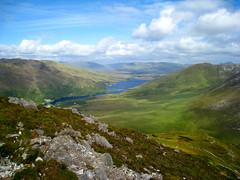 Connemara (ttwellborn) Tags: ireland lake mountains green galway clouds landscape connemara