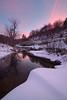 Ventarola sunset (Maurizio Fontana) Tags: winter sunset italy snow color ice water colors river nikon italia colore liguria fiume neve acqua inverno colori d800 ghiaccio passo forcella aveto