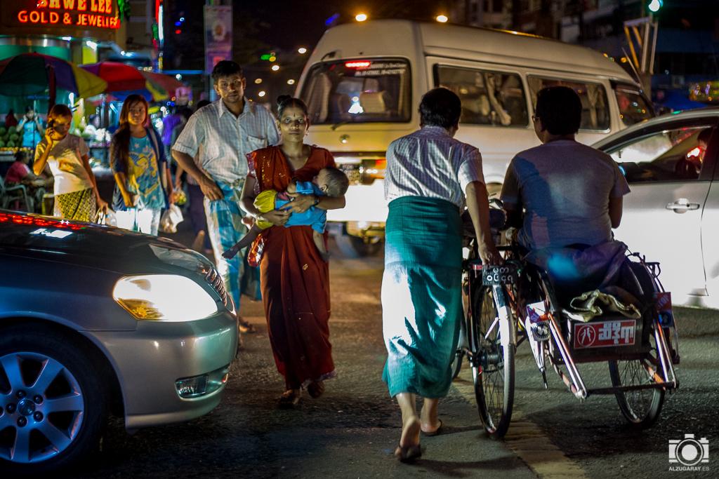 El centro de Yangón (Myanmar)