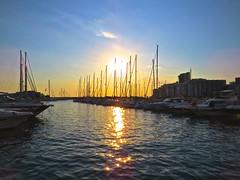Sunset over San Antonio. (RCWH) Tags: ocean sunset summer sky june boats island sailing harbour ibiza 2014 balearics