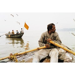 Varanasi (Oleg Krasilnikov) Tags: light india water boat day varanasi ganges iphone 2014 vsco vscocam