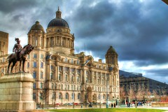 Port of Liverpool Building (Kevin From Manchester) Tags: england liverpool dock kevin ships walker hdr mersey albertdock merseyside