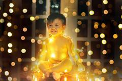 Light-filled Christmas 2 (sofia_olga) Tags: christmas baby bokeh christmaslights