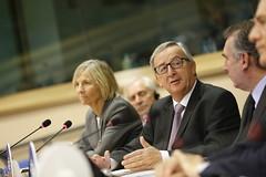 Marielle de Sarnez (FR) and Jean-Claude Juncker (PDE-EDP) Tags: marielle juncker bayrou sarnez