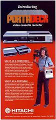 vintage advertising ad advertisement 1980s camcorder hitachi vhs vcr vintageadvertising vintagead portadeck