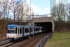 GVB CAF S3 sneltram 72+70, Lijn 51, tunneltje Zuid (Don Maskerade) Tags: station amsterdam subway metro 51 s3 70 72 caf zuid gvb lijn sneltram tunneltje