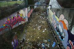 Abandoned railtrack (davidvankeulen) Tags: city abandoned night under