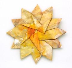 Fujimoto hexagone Rosette  27 front (Pliages et vagabondages) Tags: origami rosette décoration déco fujimoto hexagone