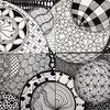 Today's #zentangleaday completed the upper right quadrant of the mosaic, tiles 2, 3, 5, & 6. (kurki15) Tags: square squareformat zia zentangle zendoodle iphoneography instagramapp uploaded:by=instagram zentangleinspiredart