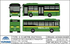 Reolian Yutong ZK6790HG Minibus (Hongkonger's Collection) Tags: macau minibus macao yutong busdrawing reolian zk6790hg