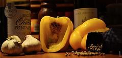 DSC_0173 (La Marquise de Jade) Tags: rouge cuisine grain vin ail blanc poivron légume poivre graine pépin