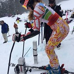 Hemlock's Katrina Voss in the Super-G Start Gate