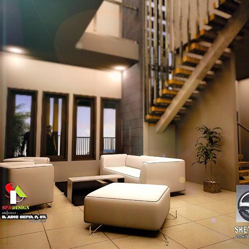 ... Living Room + tangga ...