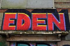 EDEN (Di's Free Range Fotos) Tags: uk england graffiti brighton eden derelict