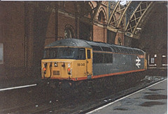 56049 St Pancras (British Rail 1980s and 1990s) Tags: br britishrail class56 56049 56 train rail railway station diesel loco locomotive 90s 1990s type5 nineties livery trains liveried traction railways
