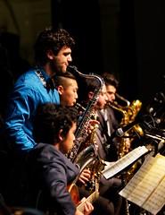 CSUN Jazz A Band - Sax section (philcalvert) Tags: jazz sax northridge sm58 csun saxsection jazza jazzaband