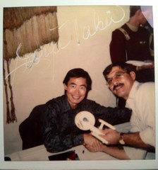 #37-1, Hollywood, Star Trek, George Takei (Sulu) Signed photo of us together and the Dinky Star Ship Enterprise that he signed (Picture Proof Autographs) Tags: fredweichmann pictureproofphotoproofinpersonauthenticauthenticatedrealgenuineautographautographedautographssignedsigningautoracingsportsportshollywoodtvshowshowsmoviemoviescelebritycelebrities photograph photographs inperson pictureproof photoproof picture photo proof image images collector collectors collection collections collectible collectibles classic session sessions authentic authenticated real genuine sign signed signing sigature sigatures tv movie movies show shows celebrity celebrities new news nbc abc cbs hollywood screenshots screenshot screen onset set lights cameria action lightscameriaaction film filming star stars extra extras background fred frederick weichmann frederickweichmann