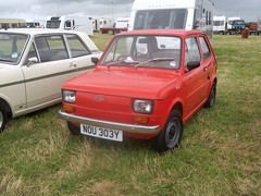 Fiat 126 650 #1 (occama) Tags: old uk red car italian cornwall fiat small twin 650 126 nou303y