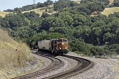 UPS Extra (lennycarl08) Tags: california railroad train trains christie centralvalley franklincanyon burlingtonnorthernsantafe burlingtonnorthernsantaferailroad