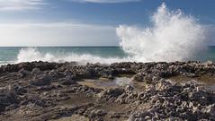 quando il mare urla (ROSSANA76 Getty Images Contributor) Tags: mare onda urla rocce costa adriatico puglia sud meridione italia relax paesaggio marino