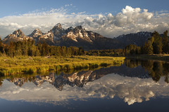 Tetons at first light (wouter.vandenheuvel) Tags: wyoming tetons grand mountains reflection water creek sunrise