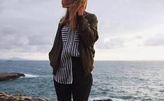 Biarritz (mrjcrr) Tags: phare biarritz vue view landscape paysage horizon mer sea plage beach coean girl blonde autoportrait narcissisme sunset sun sky ciel soleil france