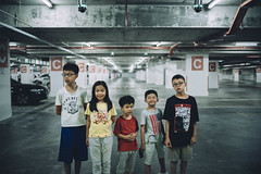 Last picture of the day! (Brian Khoo ( @khoobrian )) Tags: summiluxm a7rii sony kids vscofilm parking carpark