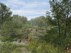 Mesolithic hunting camp site (Wessex Archaeology) Tags: family camp archaeology woodland landscape hunting deer archaeological visualisation reconstruction mesolithic