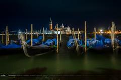 San Giorggio Magiore (www.raulcid.es) Tags: venecia noche gondolas europa sangiorggio sanmarcos italia