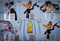 Looney Tunes Floppy disc. (Livesurfcams) Tags: floppydisc 144mb disc looneytunes oldskool devon fuji xt1 bugsbunny daffyduck tweetiepie tasmaniandevil sylvester cat