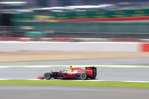 Max Verstappen in his Red Bull in the 2016 British Grand Prix