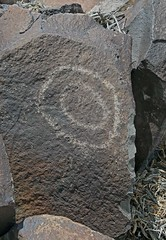 Petroglyph / Fish Lake Valley Site (Ron Wolf) Tags: geometric archaeology circle nevada nativeamerican petroglyph anthropology rockart blm concentriccircles
