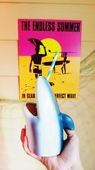 Shark glass (kibblesthepig) Tags: shark glass glassware endless summer beach