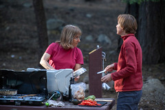 Pam and Megan _4216 (hkoons) Tags: aspen group jackson meadow reservoir peace corps spring unit tahoe national forest 2016 sierra sierras campout mountians recreation rpcv
