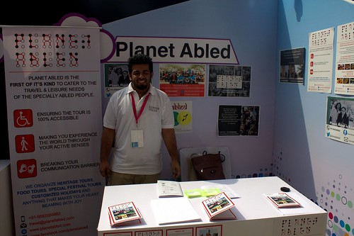 Planet Abled Team at Techshare 2016 in New Delhi: Planet Abled's exhibit at Techshare 2016.
