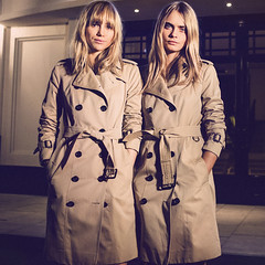 Burberry Beauties (betrenchcoated) Tags: burberry girl beautifulgirl trenchcoat trench buttoned raincoat sexy