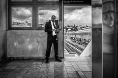 Station Gard... (YVON B) Tags: station street shadow portrait xpro2 urban fuji france life candide blackwhite window