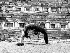 Old Self portrait... (Jessica S. Molina) Tags: yoga pyramids mexico pueblo magico yohualichan blanco y negro blackandwhite monocromatico airelibre oldphoto
